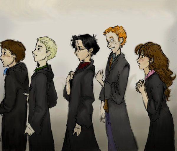 First Years By Burdge Bug By Nickmorgan On Deviantart Harry Potter Fan Art Harry Potter Drawings Burdge