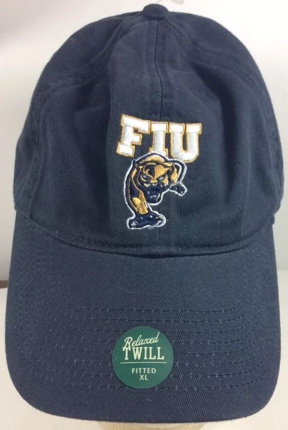 Florida International  University  Panthers Baseball Sports Cap Hat Black  XL  Legacy  BaseballCap 70b3499d3376