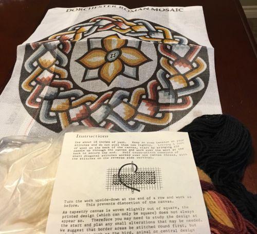Clio Design Tapestry Kit Dorchester Roman Mosaic Wool