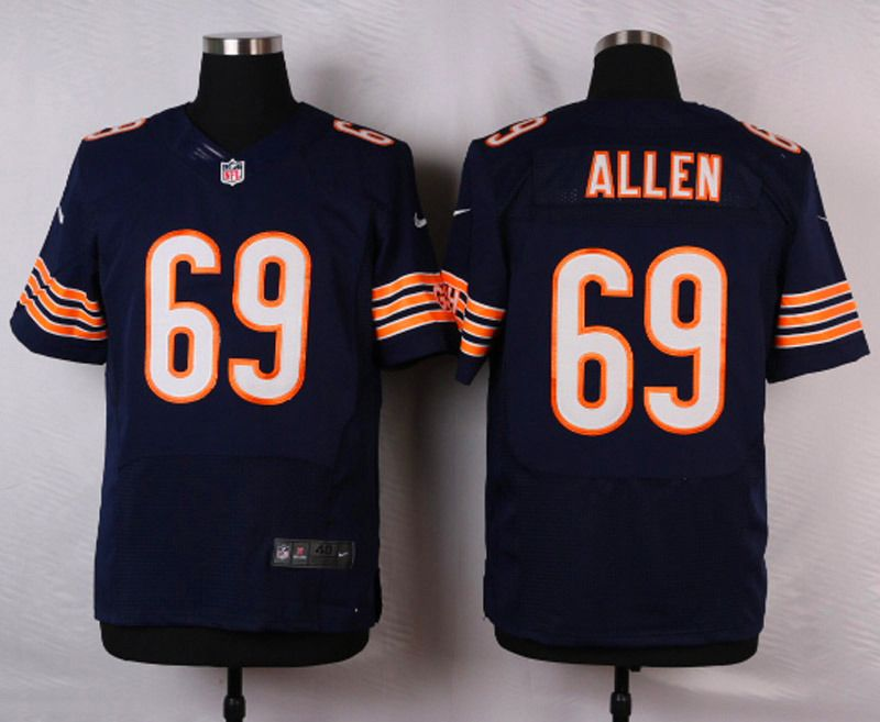 ... Mens Chicago Bears Jared Allen 69 Navy Blue Elite Jersey Mens - Nike ...