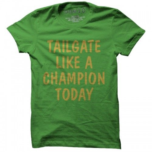 635c08d7a2d9 Tailgate Like a Champion Today T-Shirt | Notre Dame Irish T-Shirts | Retro  ND Tee | One 10