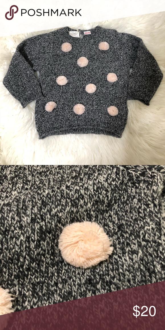 Zara Baby Girl Knit Sweater with Pompoms NWT Baby Girl ...