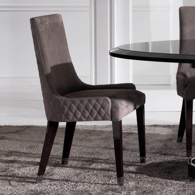 Quilted Nubuk Leather Italian Dining Chair In 2020 Luxury Dining