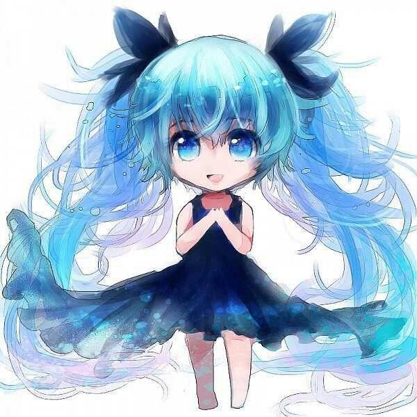 Blue chibi girl google search cute chibi pinterest - Cute anime miku ...