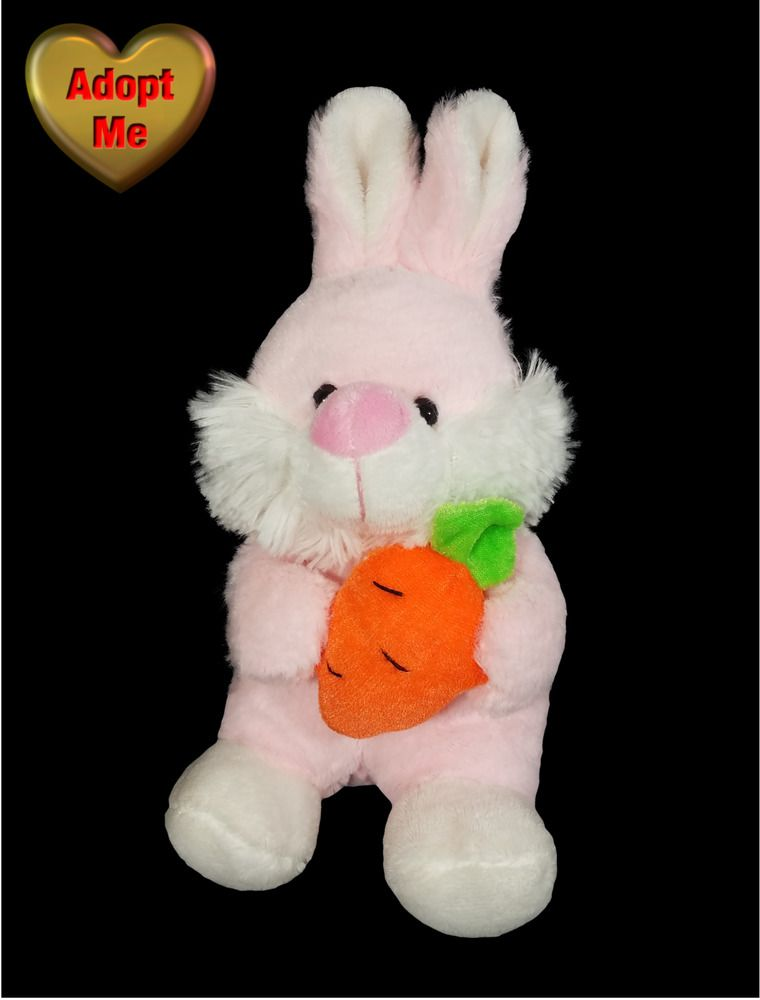 Inter American Products Stuffed Plush Pink White Easter Bunny Rabbit