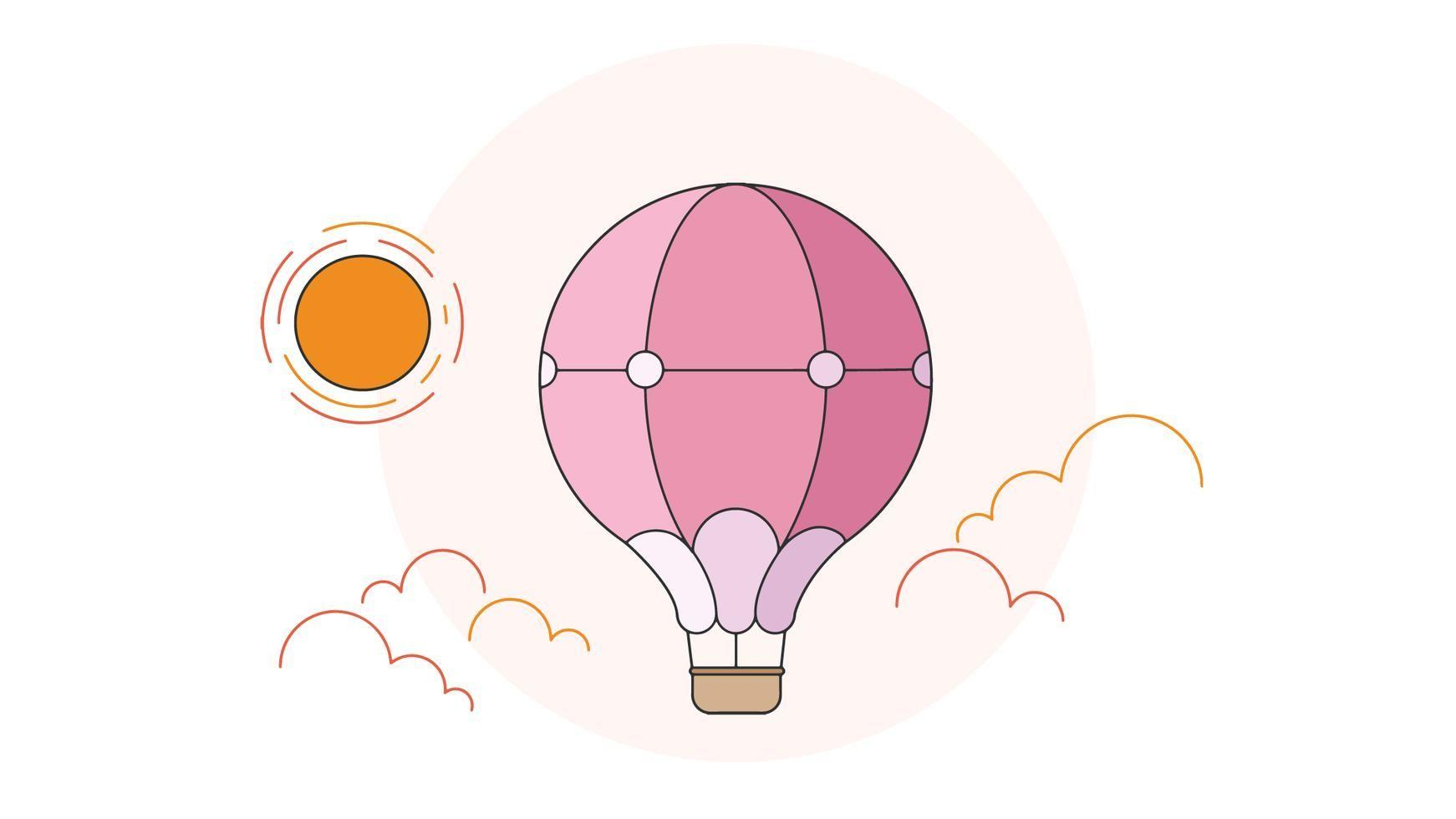 Hot Air Balloon Vector Vector Art Air Balloon Art