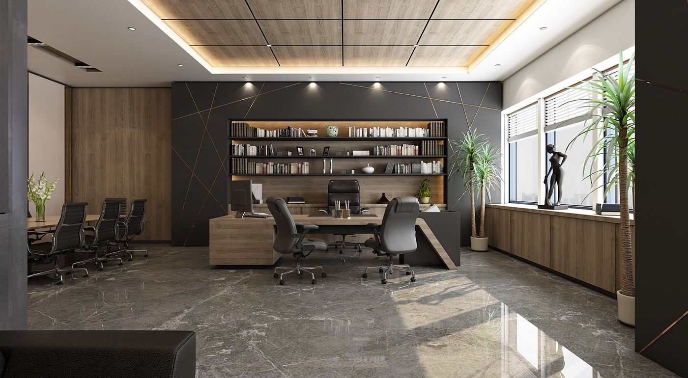 Ceo Office Design And Visualization For A Well Known Company