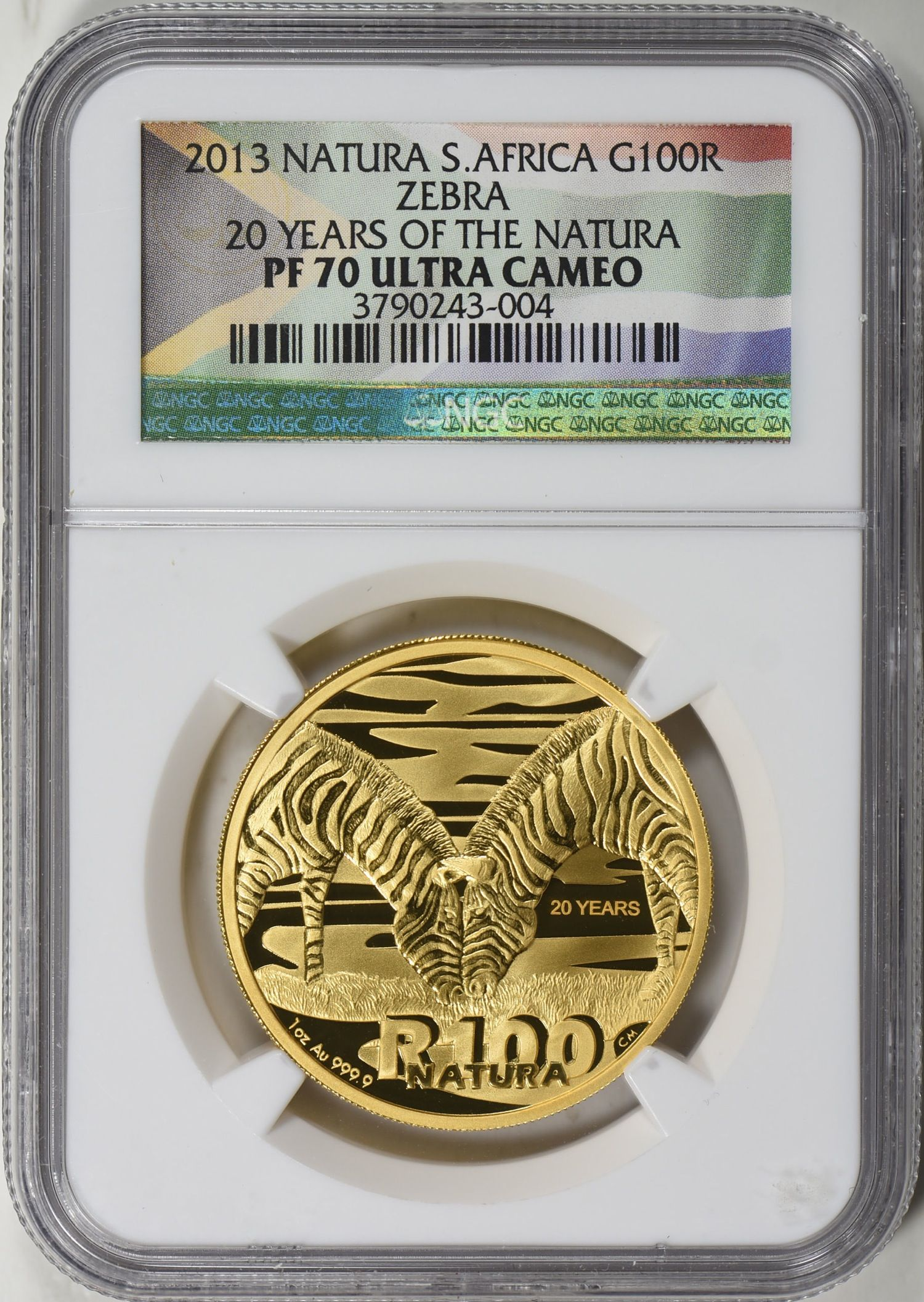 South Africa 2013 Gold 10 20 50 And 100 Rand Natura Set The Zebra Ngc Proof 70 Uc 4 Coins Total Agw 1 85 Oz Zebra Coin Auctions Canadian Gold Coins