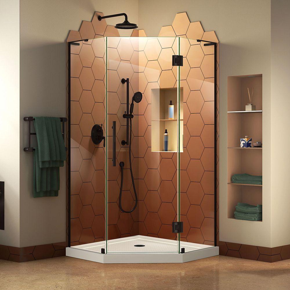 Prism Plus 36 Inch D X 36 Inch W Shower Enclosure In Satin Black