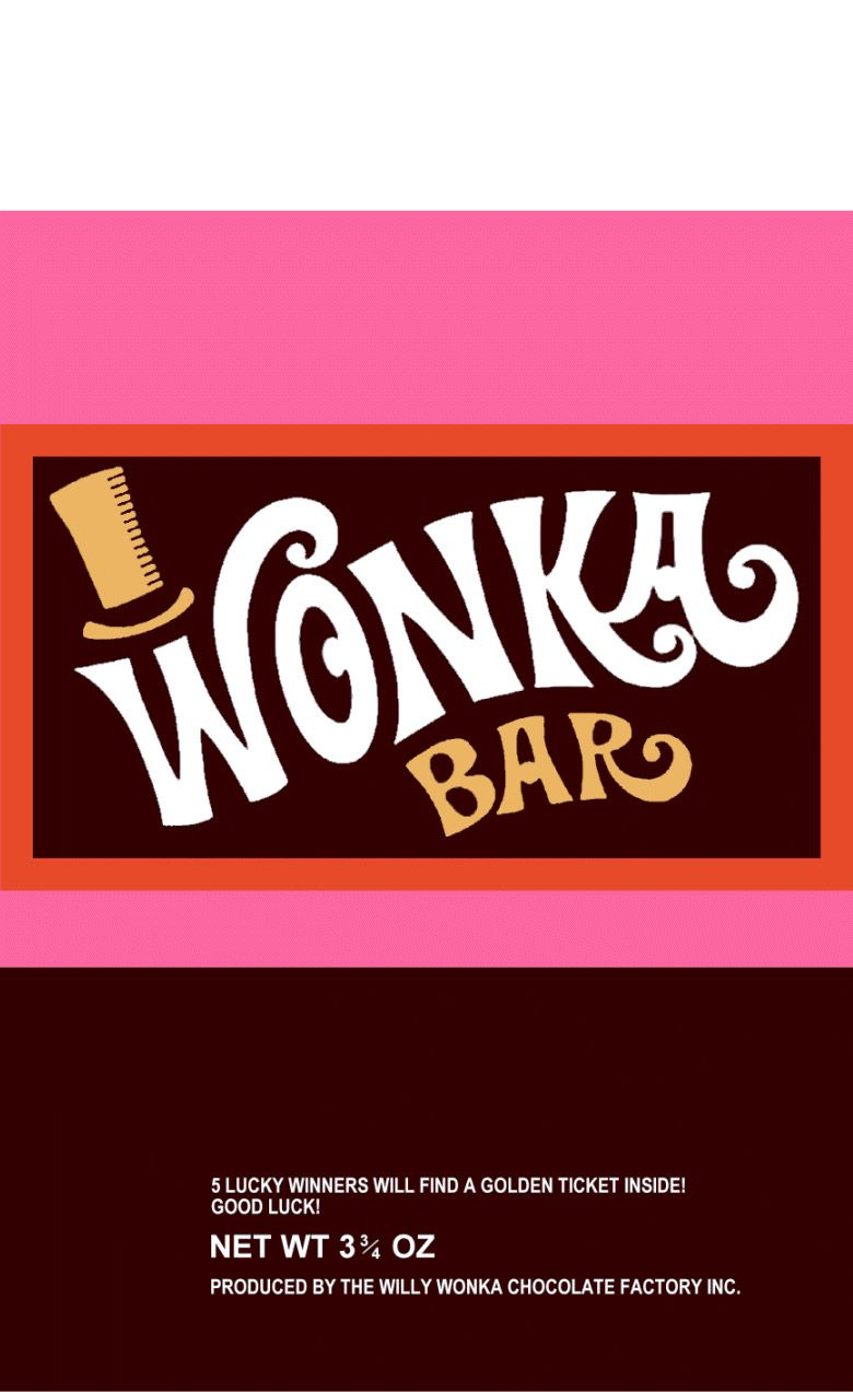 Shocking image in wonka bar printable