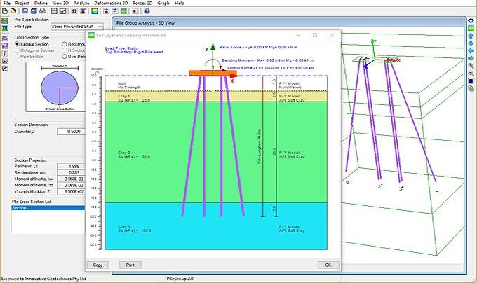 Innovative Geotechnics Develops Pilegroup This Construction Program Is Specifically Des Construction Estimating Software Construction Geotechnical Engineering