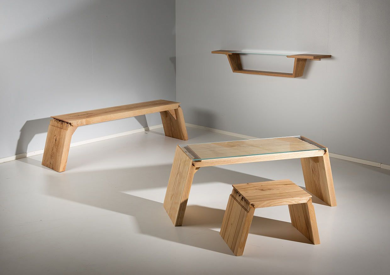 Furniture That Explores The Beauty Of Wood With All Its Cracks, Breaks, And  Defects
