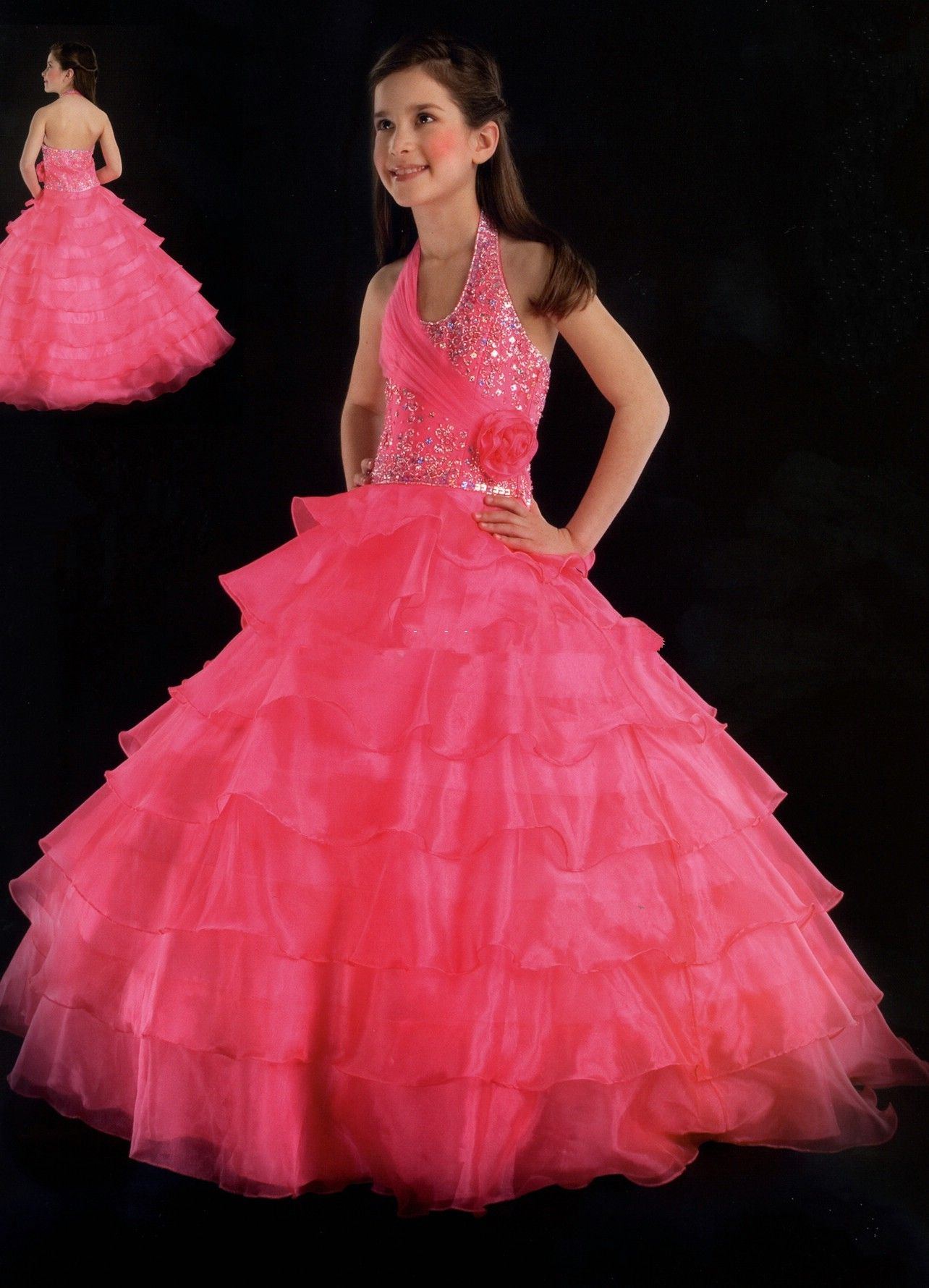 girls dress pictures | Pageant ball gowns - little girls ball gown ...