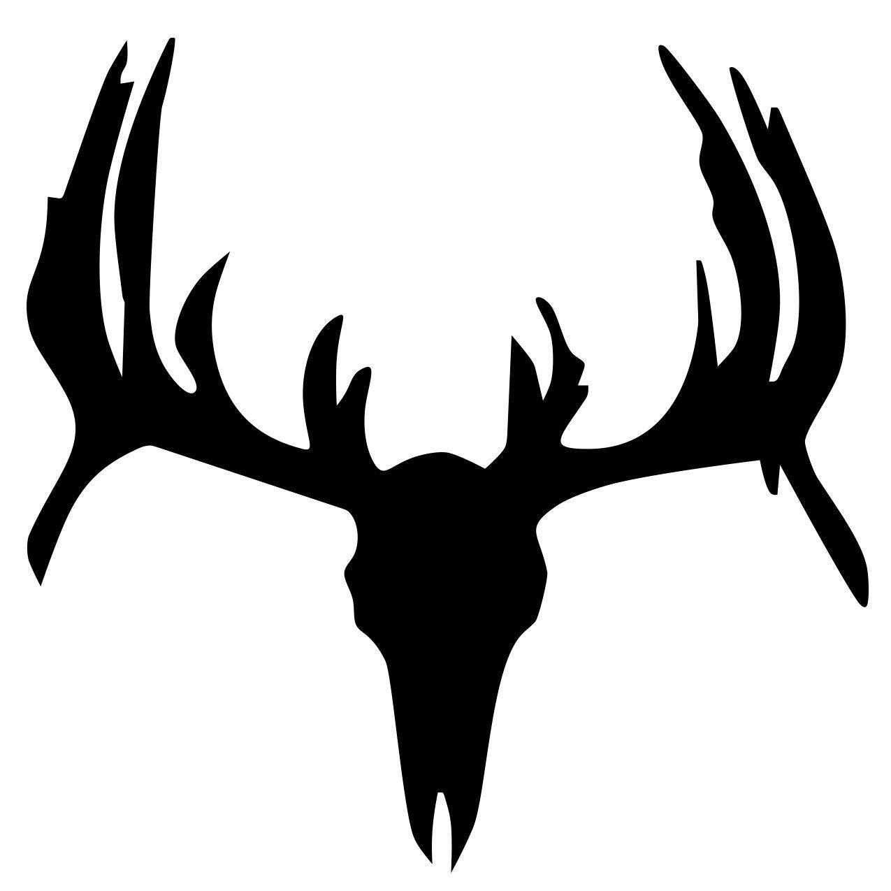 dear skull deer skull image vector clip art online royalty free rh pinterest com deer skull silhouette vector deer skull mount vector