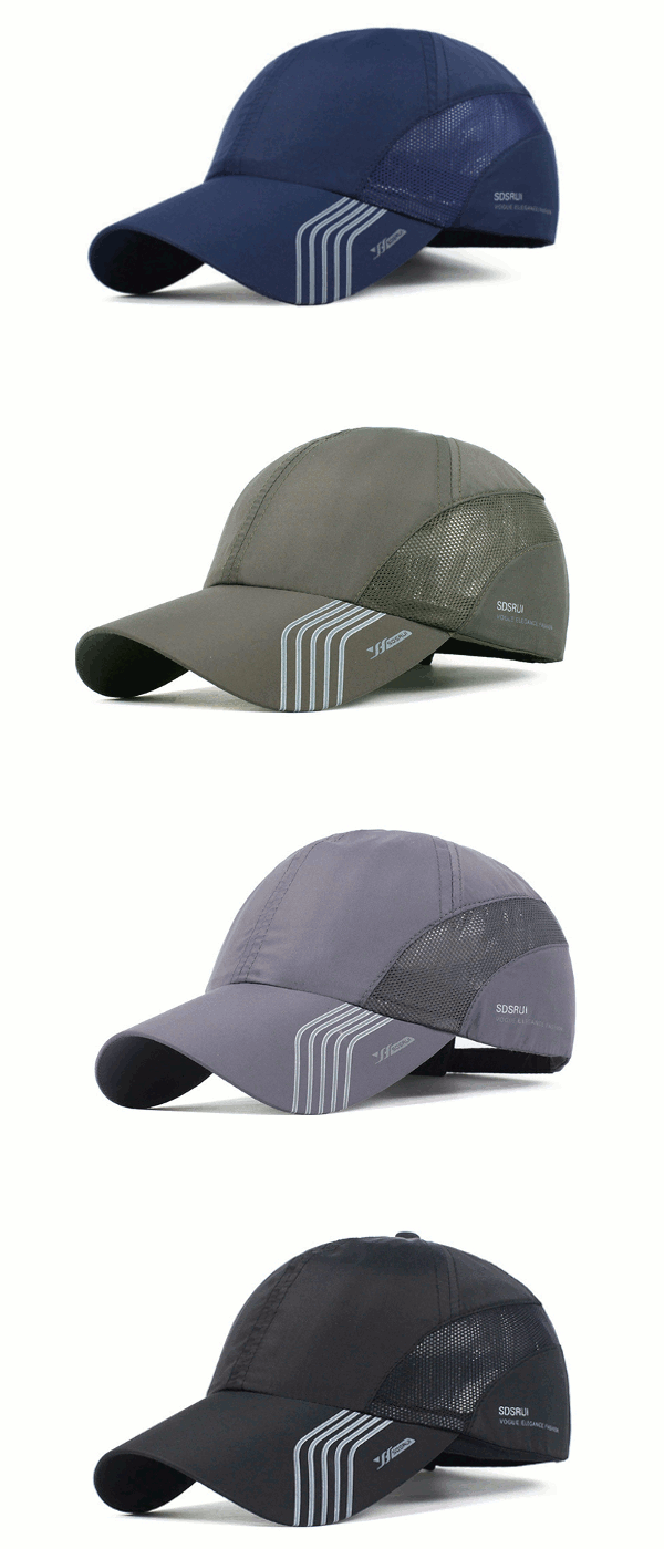 Mens Thin Breathable Quick Dry Baseball Cap Sunshade Leisure Outdoor Mesh  Hat 22b697c57b4