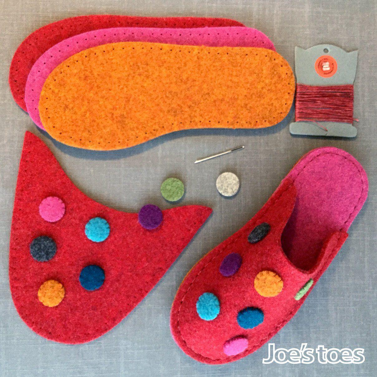 Photo of Dotty Slipper Kit in UK sizes