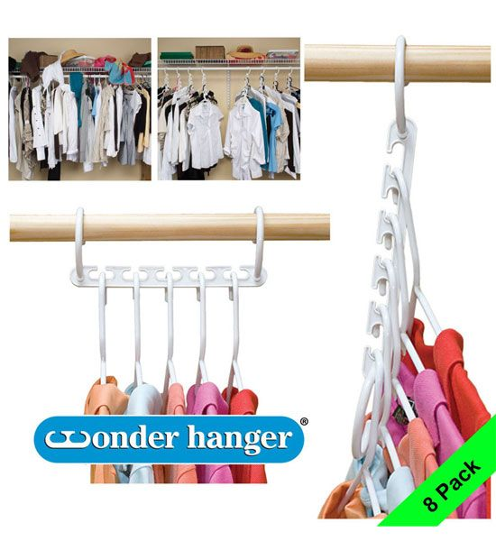 Plastic Wonder Hangers Set Of 8 In Hanger Organizers Closet Space Savers Space Saving Hangers Closet Hangers