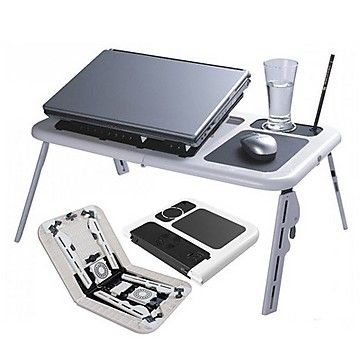 Portable Laptop Stand Foldable Table E Table With 2 USB Cooling Fans  Notebook