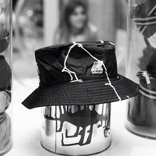 Custom K•WAY bucket hats by Marcus Jahmal of CLR Therapy in black ... e696928aa6b