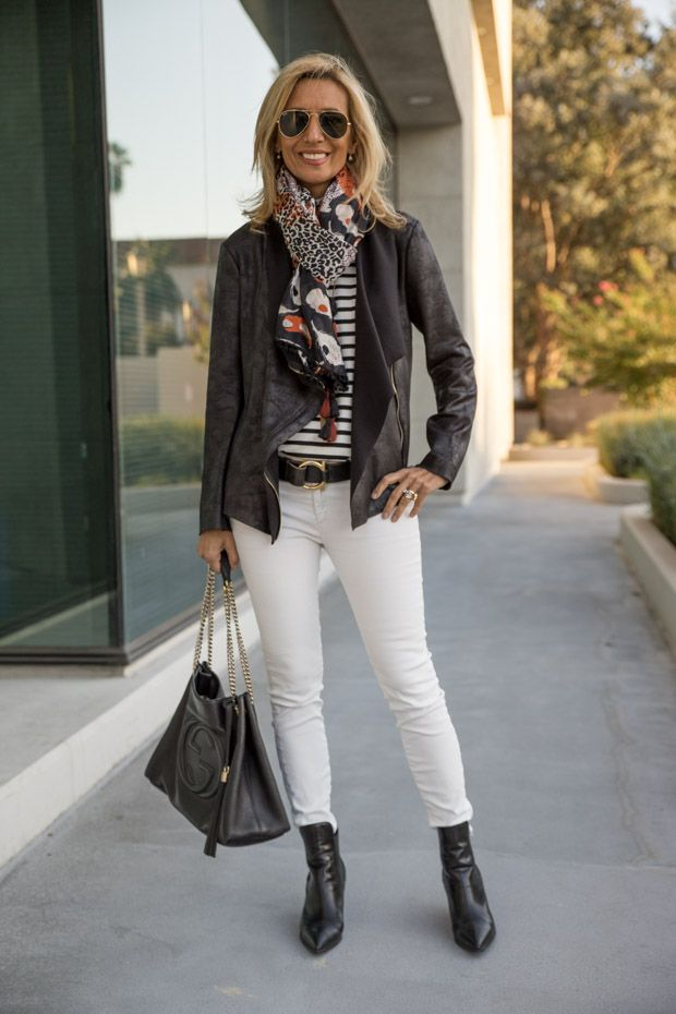How To Wear White Jeans For Fall And Winter See My Style Feature How To Wear White Jeans White Jeans White Jeans Outfit Winter