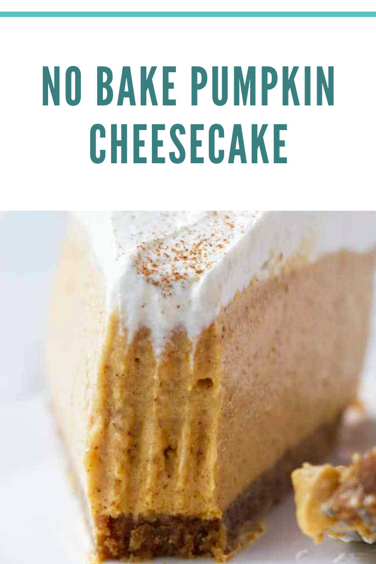 No-Bake Pumpkin Cheesecake Recipe (VIDEO) #pumpkincheesecake