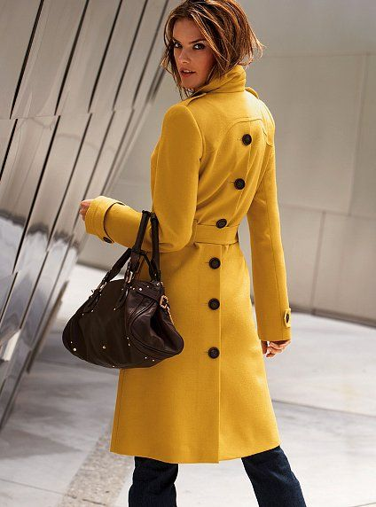 Wool Coat Long  Coat Fitted Coat Mustard Coat Tailored Coat For Women Warm Coat Yellow Coat Wool jacket Women/'s Coat Peacoat,