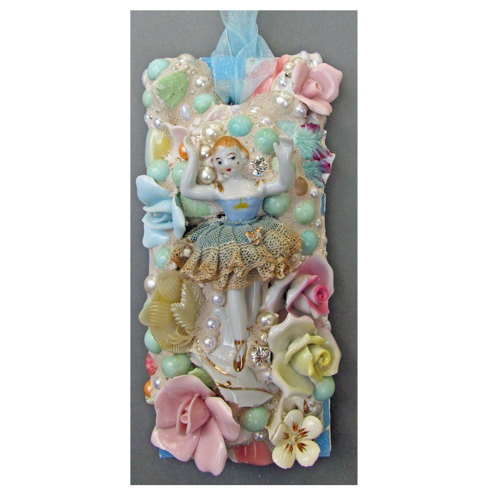 Amazon.com: Vintage Ballerina and Capodimonte Flower Wall Hanging: Handmade