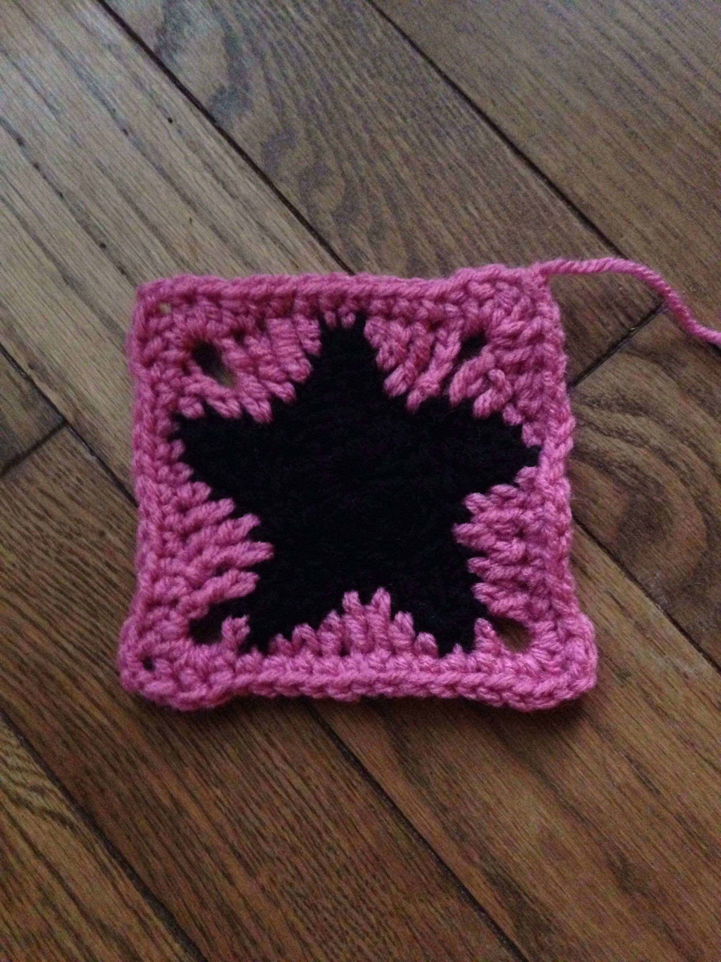 Star Granny Square I Made It Up As I Went But It Began As