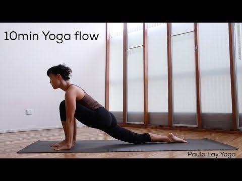 10min yoga flow sequence  youtube  yoga flow sequence