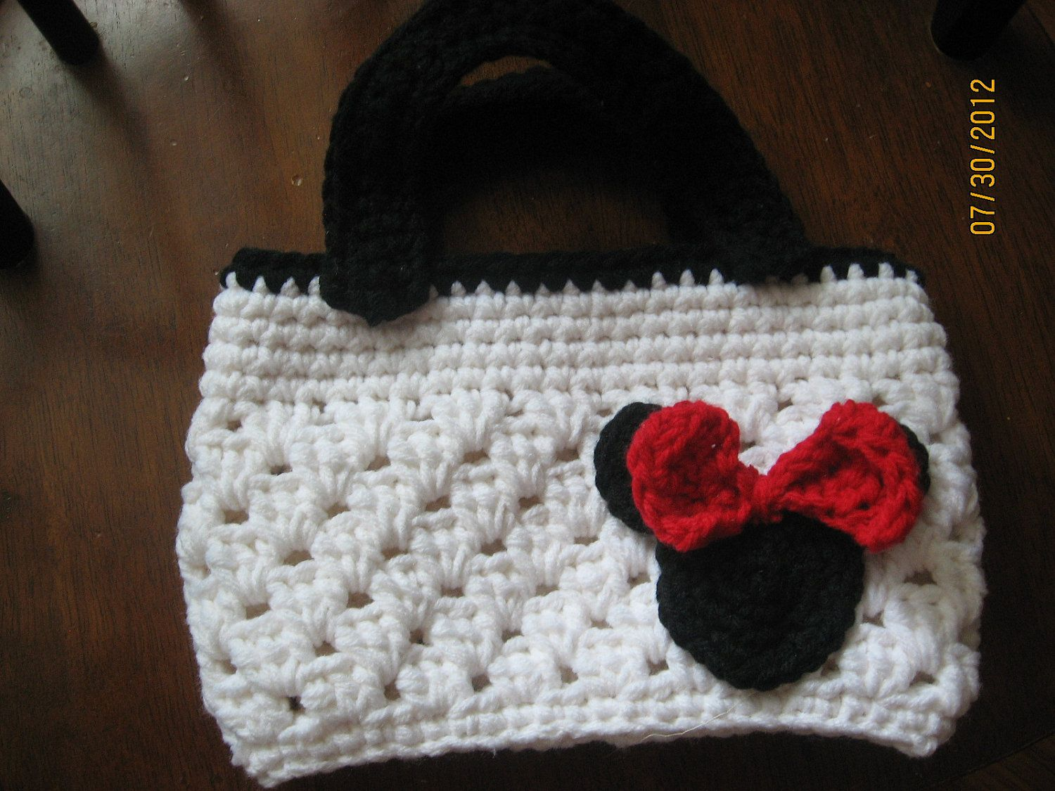 Crochet Minnie Mouse Girl\'s Purse by kraftsfromkathleen on Etsy ...