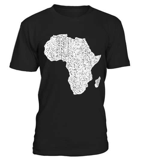 Africa Map T Shirt Top Shirt for Africa With African Map Distressed front . tee