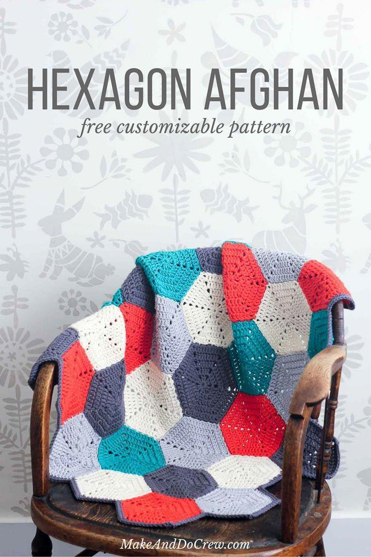 Happy Hexagons\' Free Crochet Afghan Pattern | Manta, Tejido y Mantas ...