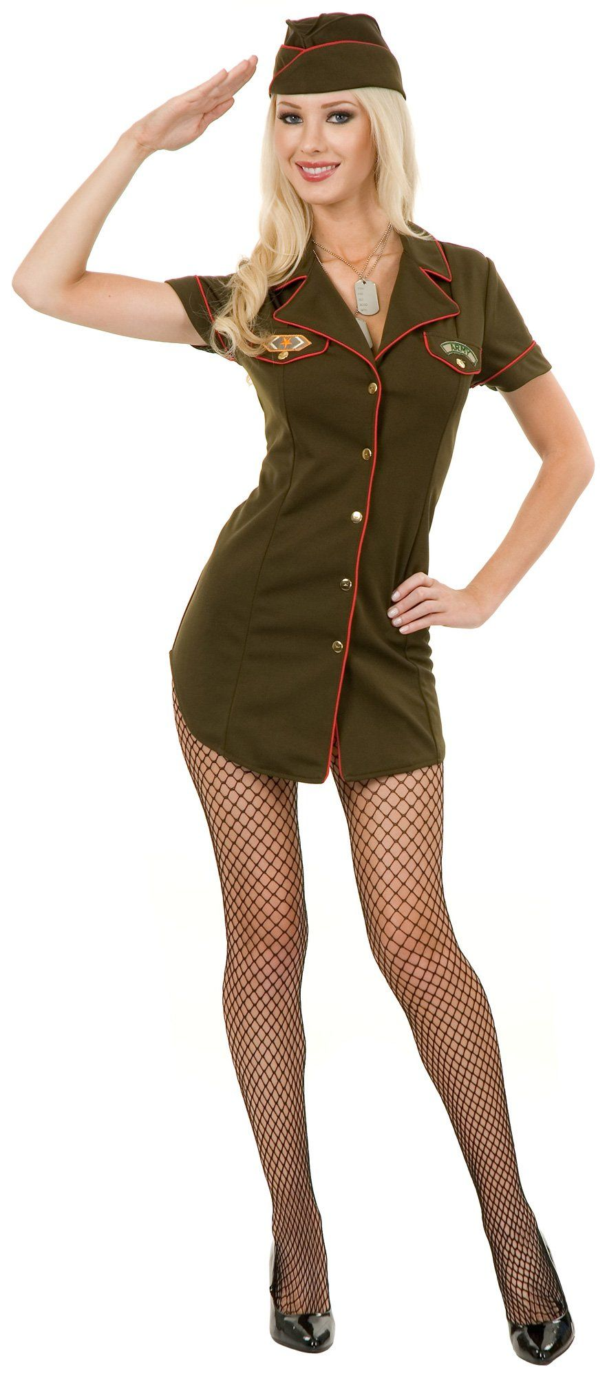 army babe adult costume - Halloween Army Costume
