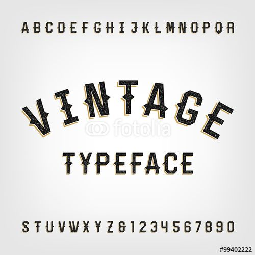 Western Style Retro Distressed Alphabet Vector Font Letters And Numbers Vintage Vector Typogr Fancy Fonts Alphabet Vintage Fonts Alphabet Vintage Typography