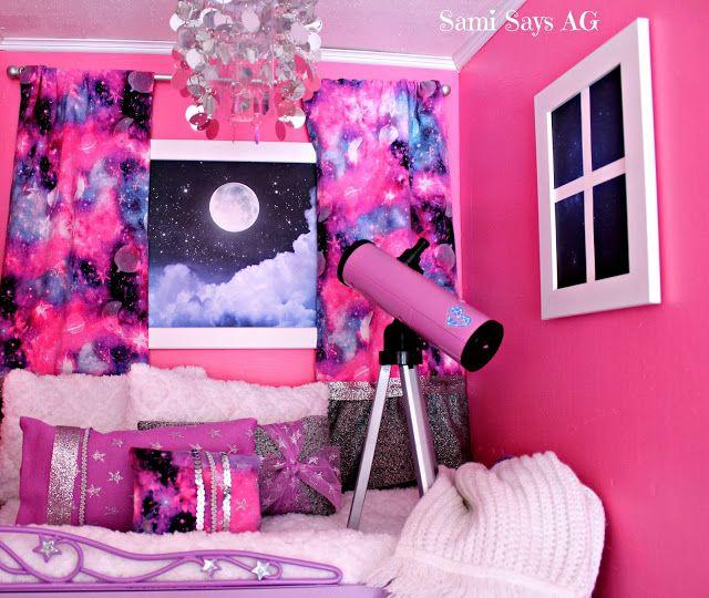 American Girl Doll Bedroom: Sami Says AG- American Girl Doll House Bedroom- Luciana