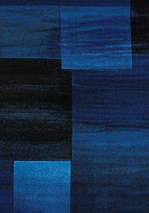 blue and black decorative carpet