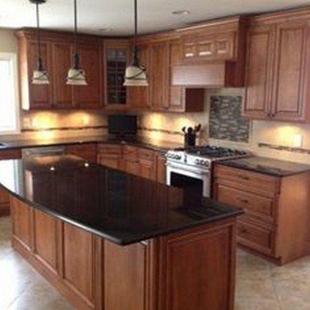 86 Ideas For Backsplash For Black Granite Countertops And ... on Black Granite Countertops With Maple Cabinets  id=37265