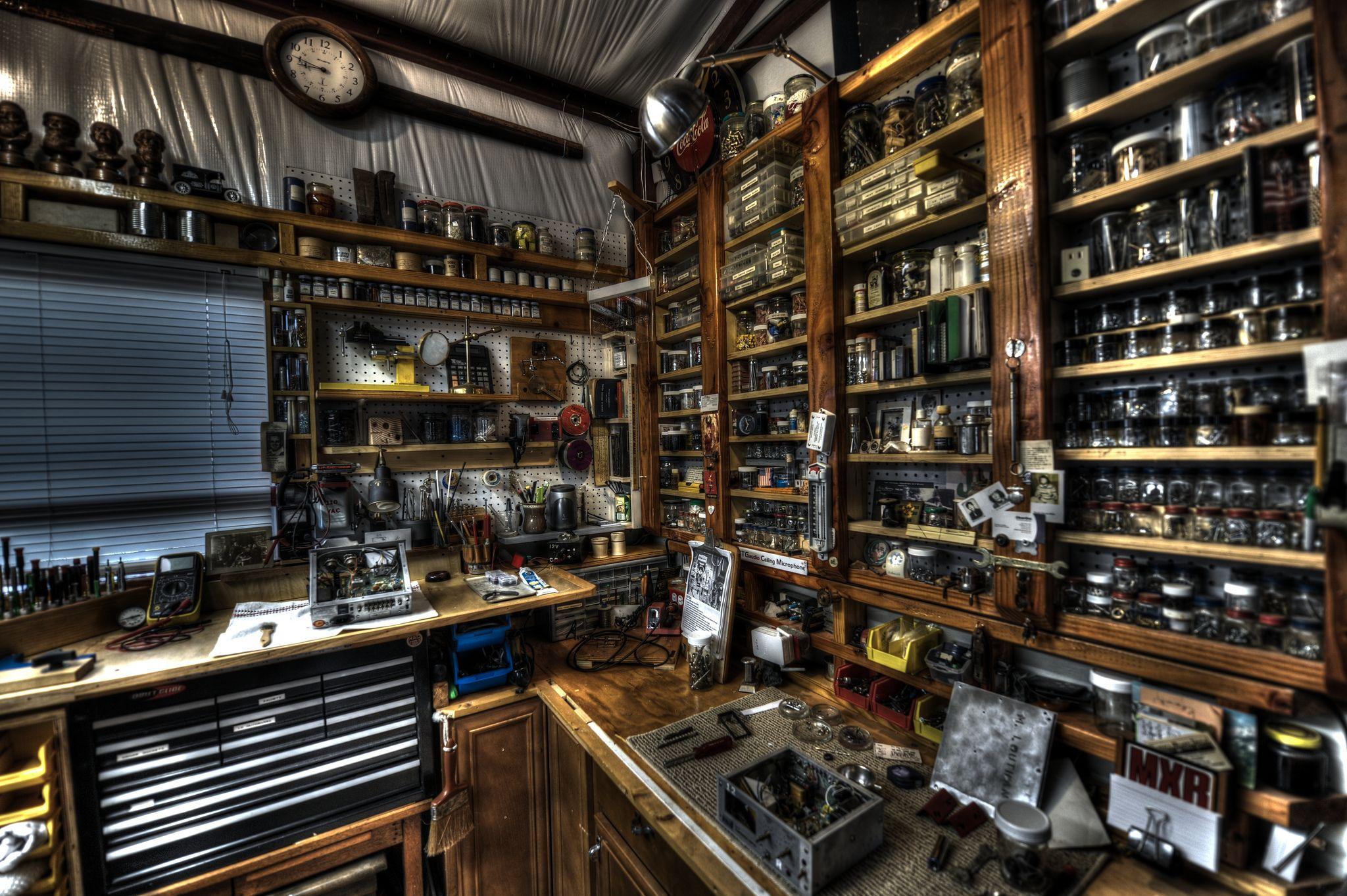 Small parts storage | Workshop | Pinterest | Garage workshop, Garage