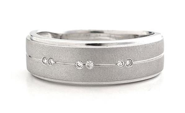 Silver and diamonds mens ring