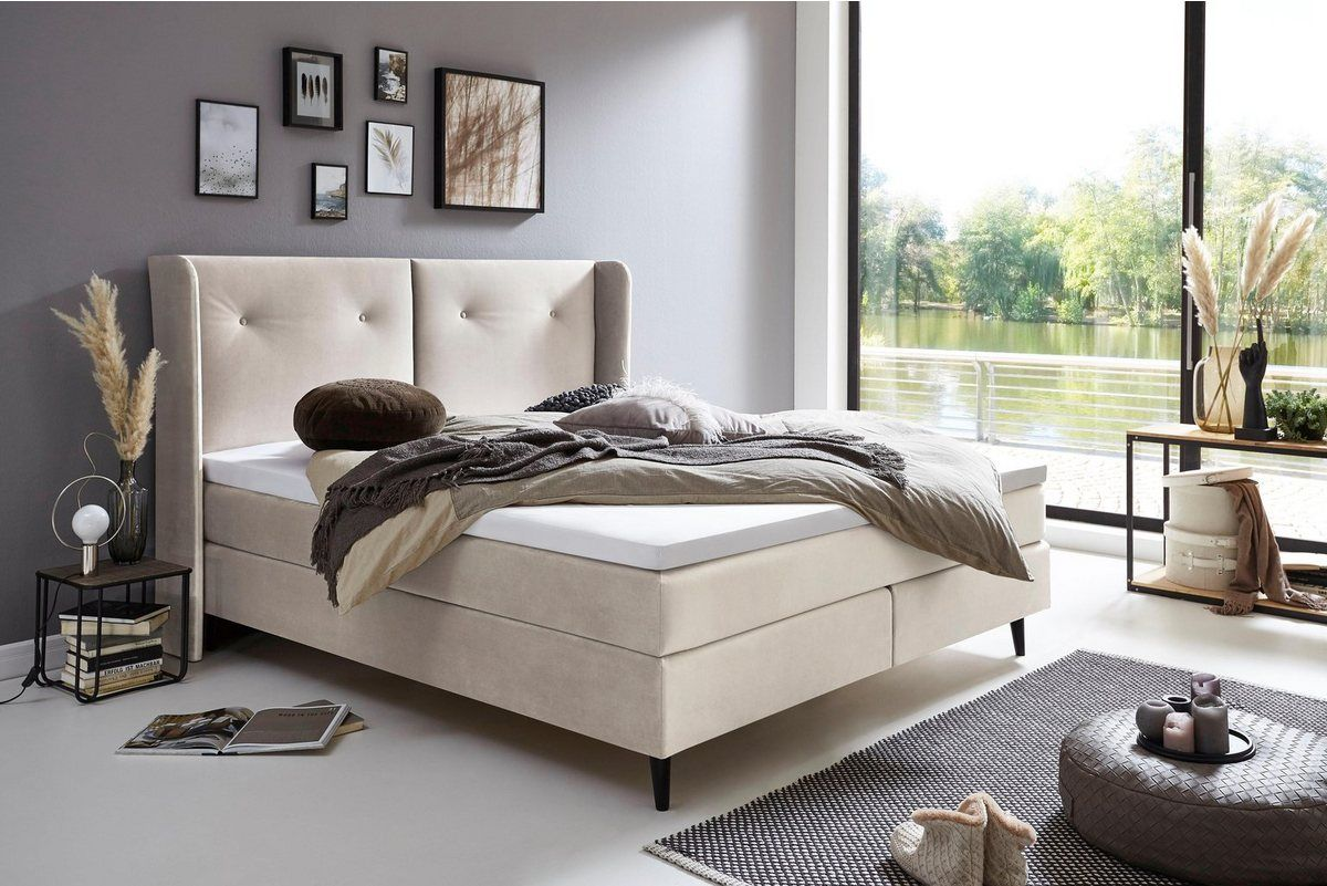 Boxspringbett Mit Topper Atlantic Home Collection Haus Und Bett