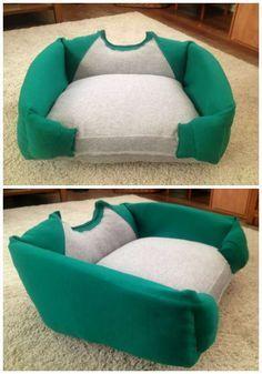 27 supers id es bricolage pour chats et chiens fauteil pull et vieux. Black Bedroom Furniture Sets. Home Design Ideas