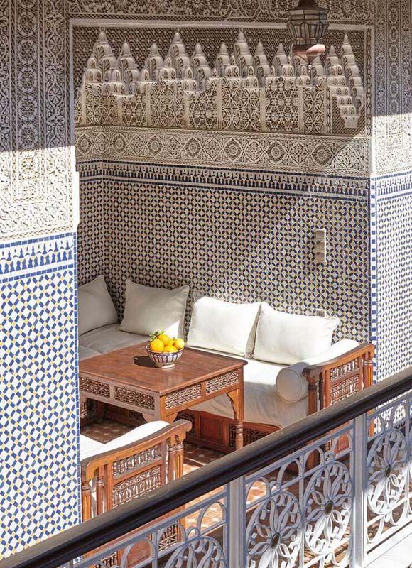 Moroccan Decor: Tour Riad Jardin Secret | Déco salon, touche ...