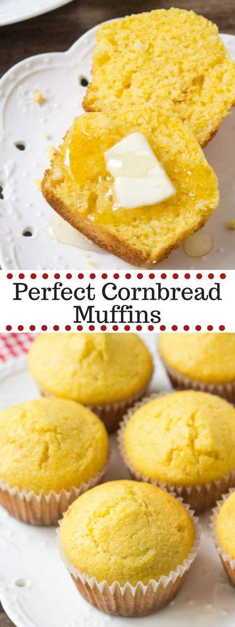 These Cornbread Muffins Are Made With Buttermilk And A Touch Of Honey Delicious For Breakfast Or As A Side Dis Sweet Cornbread Cornbread Muffins Honey Muffins