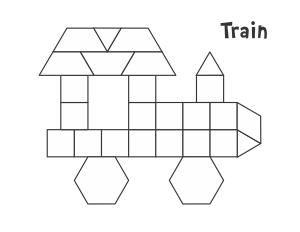 Pattern Block Mats  Boerderij De Boerderij En Vorm