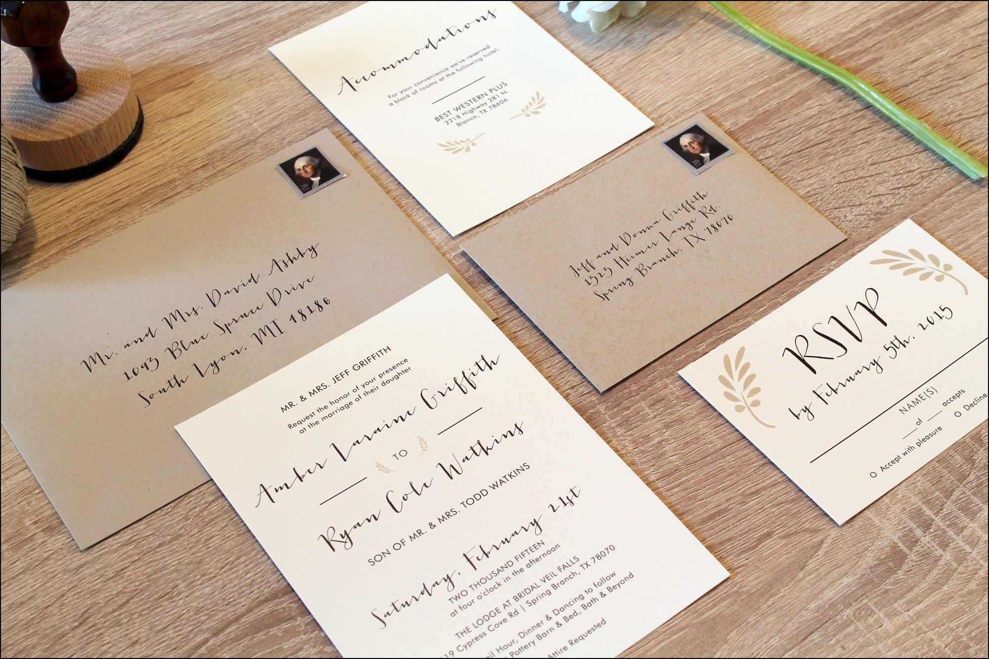 wedding card wordings simple%0A Simple Country Wedding Invitations