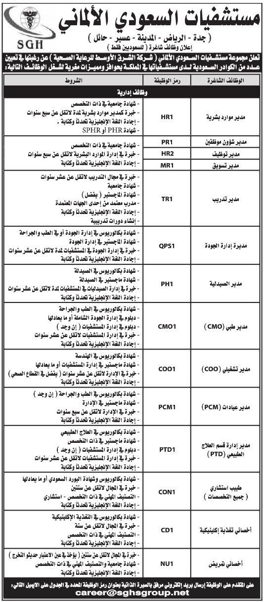 وظائف مستشفيات السعودي الالماني جدة الرياض المدينة عسير حائل Bullet Journal Journal Bullet