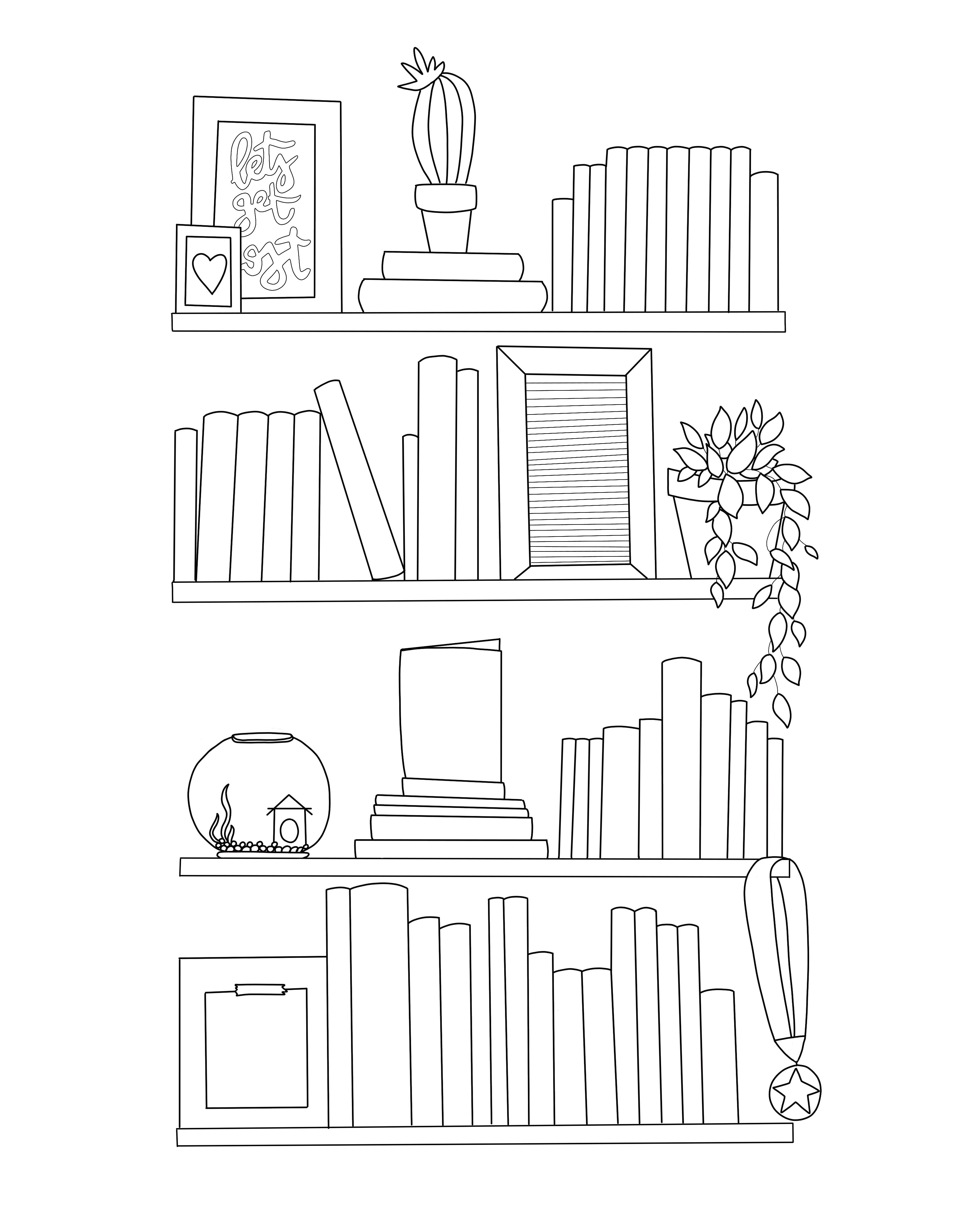 Free Printable Book Log Coloring Page Bullet Journal Books