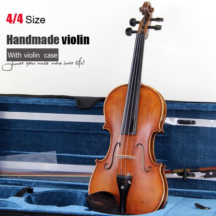 Elegant Satin Fabric Violin Bag 4//4 Full Size Champagne Color Protective