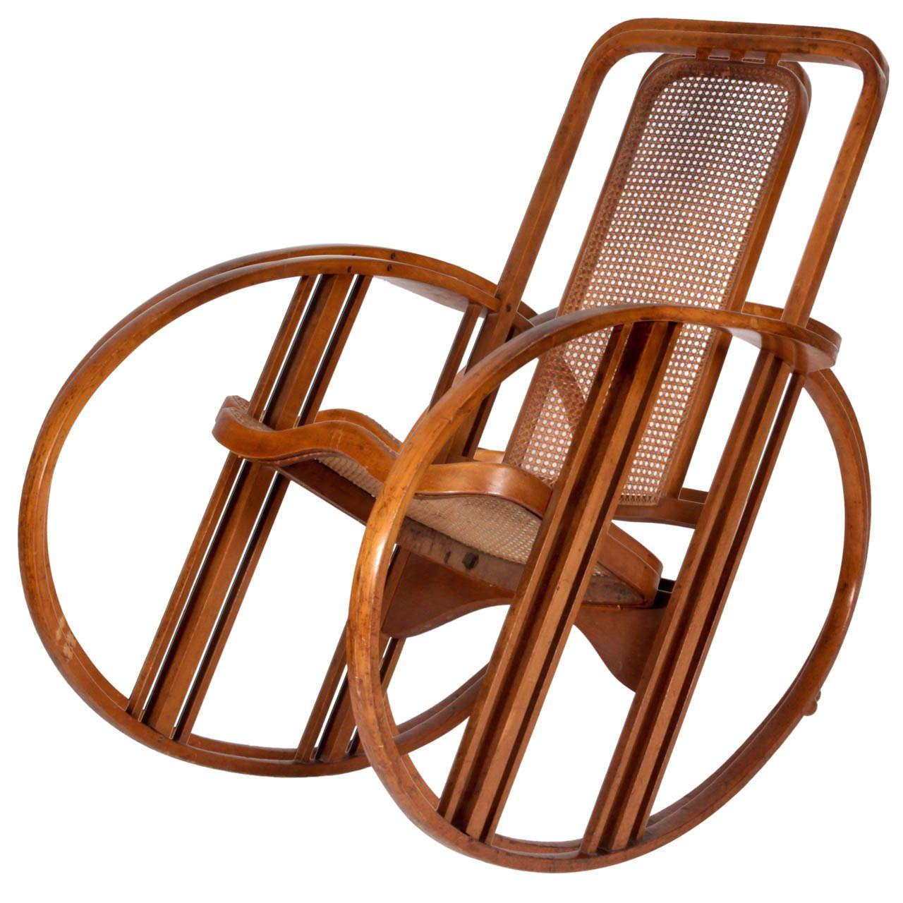 1920s Rocking Chair Most Expensive Antonio Volpe Josef Hoffmann Attr Egg C 1920
