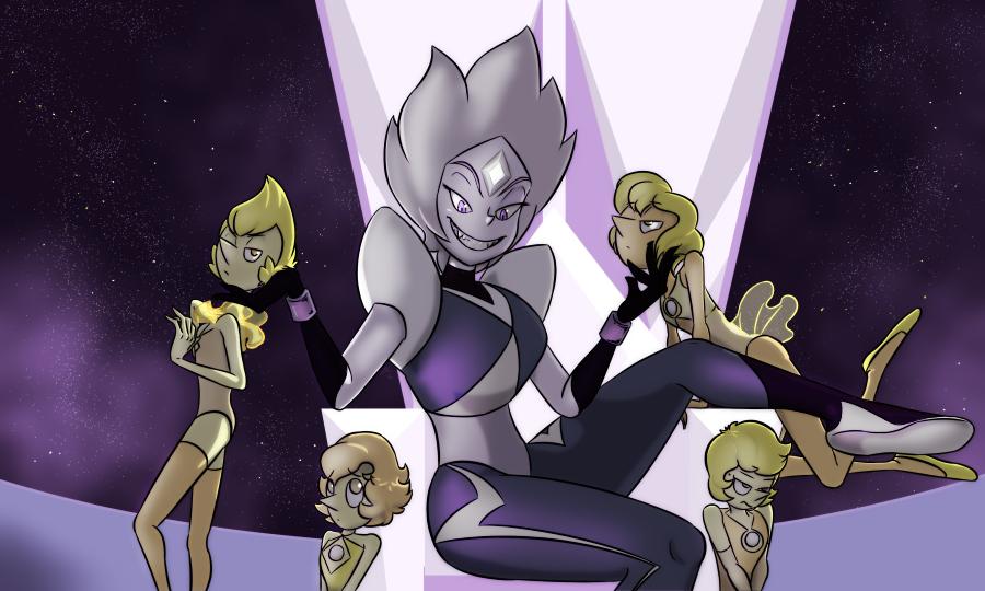Steven universe,фэндомы,White Diamond,Yellow Pearl,SU Персонажи,SU art,gauntystudios